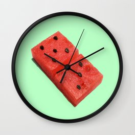 WATERMELON DOMINO Wall Clock