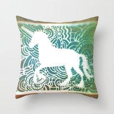 Unicorn Drawing Meditation - Stencil Print #1 Throw Pillow