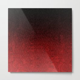Red & Black Glitter Gradient Metal Print