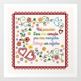 Valentines Gift or Lenço dos Namorados Art Print