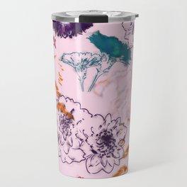 fall floral pink Travel Mug