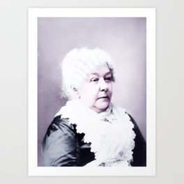 Elizabeth Cady Stanton about 1902 Infrared art by Ahmet Asar Art Print