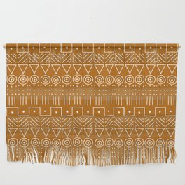 Mudcloth Style 1 in Orange Wall Hanging