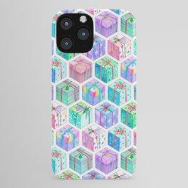 Christmas Gift Hexagons iPhone Case