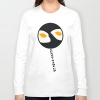 eggs Long Sleeve T-shirts featuring fried eggs by Gréta Thórsdóttir