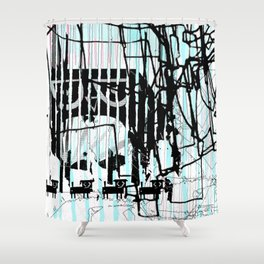 ODD MIKEY Stuff - Abstract Story - Part I Shower Curtain