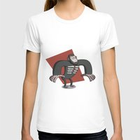 planet of the apes T-shirts featuring Caesar - Dawn of the Planet of the Apes Cartoon by Aaron Lecours