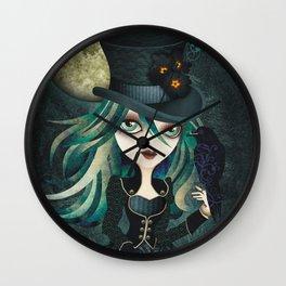 Raven's Moon Wall Clock