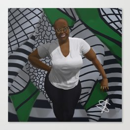 Black woman with curves Canvas Print