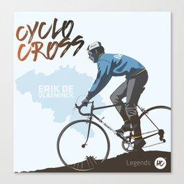 Cyclocross - Legends Erik De Vlaeminck Canvas Print