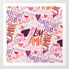 Love Languages Art Print