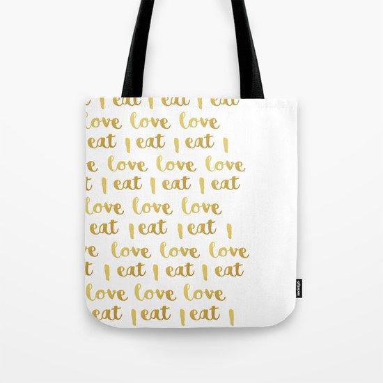 I love eat Golden Version pattern 2 Tote Bag