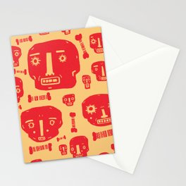 Skulls & Bones - Red/Yellow Stationery Cards