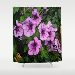 Purple Mum Shower Curtain