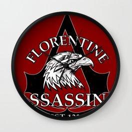 Florentine Assassins Wall Clock