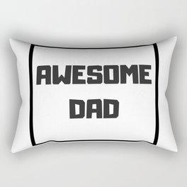 Awesome Dad #minimalism Rectangular Pillow