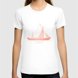 Conquer the sea on a red boat T-shirt