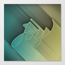 Joy – Stone Dark Canvas Print