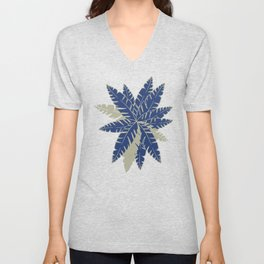 Into The Palms - Blue and Tan Unisex V-Neck