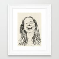 tooth Framed Art Prints featuring tooth by Daria Golab