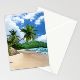 Tropical Landscape at Mahé  Island, Seychelles Stationery Cards