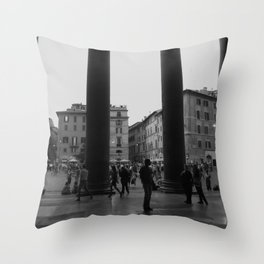 view from the pantheon Throw Pillow
