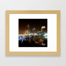 Tacoma at Night Framed Art Print