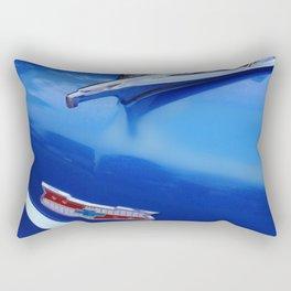 Blue Bel Air Hood Ornament Rectangular Pillow