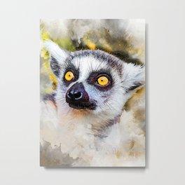 Lemur #lemur #animals Metal Print