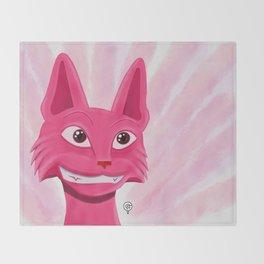 Lollipop the pinky cat Throw Blanket