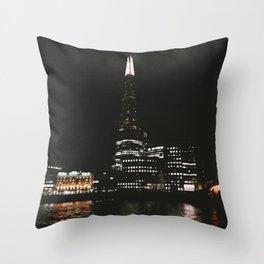 The Shard at Night, London, UK  Throw Pillow