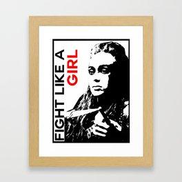 Fight Like A Girl (Lexa) Framed Art Print