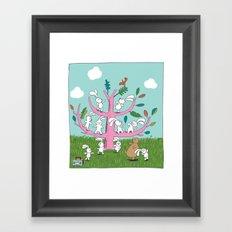 rabbit moves Framed Art Print