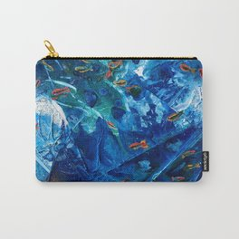 Rainbow Fish Swim, Environmental Tiny World Collection Carry-All Pouch