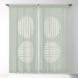 Inverted Circle Lines Blackout Curtain