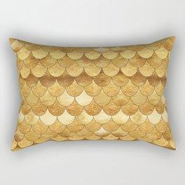 Golden Scales Rectangular Pillow