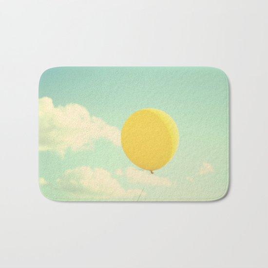 yellow balloon Bath Mat