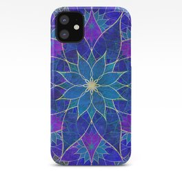 Lotus 2 - blue and purple iPhone Case