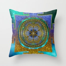 Yantra Mantra Mandala #1 Throw Pillow
