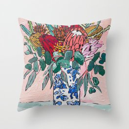 Australian Native Bouquet of Flowers after Matisse Throw Pillow