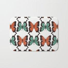 Butter - colorful butterfly pattern Bath Mat