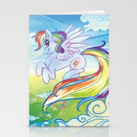 mlp Stationery Cards featuring Rainbow Dash - MLP by mmishee