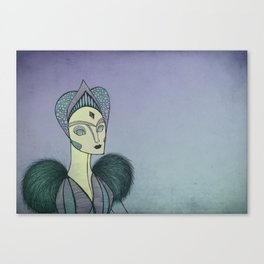 Robot queen Canvas Print