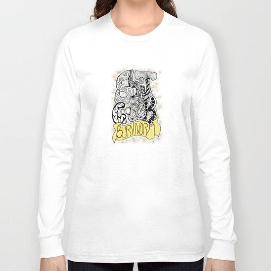 Zentangle Shit Creek Survivor Long Sleeve T-shirt