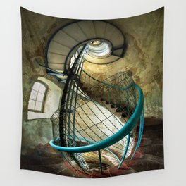 Inside the old lighthouse Wall Tapestry