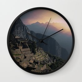 Machu Picchu Peru in Late Afternoon Wall Clock