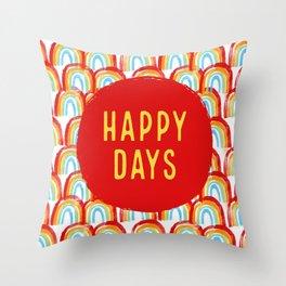 Happy days #4 Throw Pillow