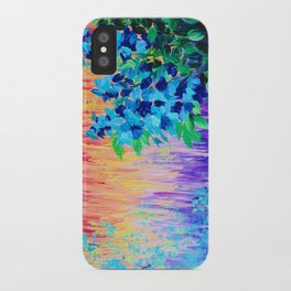 SHADES OF BEAUTIFUL - Stunning Bright BOLD Rainbow Ombre Pattern Blue Floral Hyacinth Nature Autumn iPhone Case