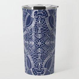 Doodles & Bits Lacy Blue Bandana Travel Mug