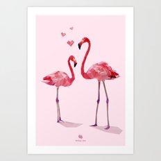 Flamingo Love Art Print